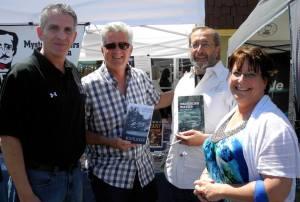 From left: Steve Piacente, Greg (aka FedFlack), John DeDakis, Judy.  Photo courtesy Felicia Piacente