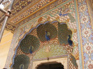 Jaipur - detail of summer gate