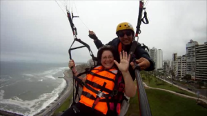 Waving from over Lima