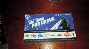 pub crawl- ticket