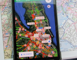 Google Map traffic on cell phone