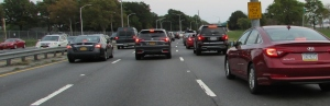traffic on Belt Parkway, Long Island