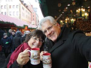 with gluhwein