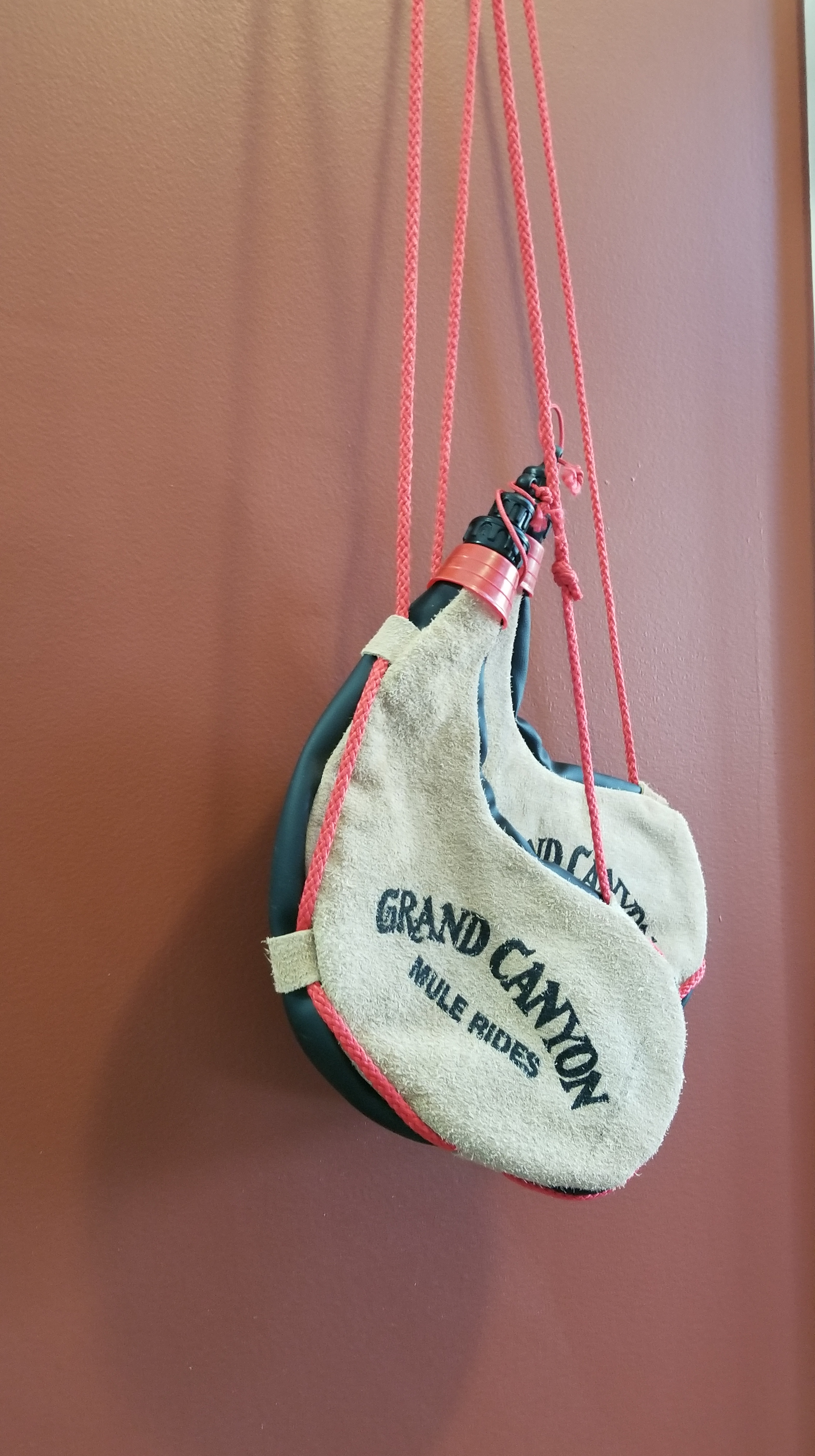 """Boda bags -- our """"canteens"""" for the ride."""