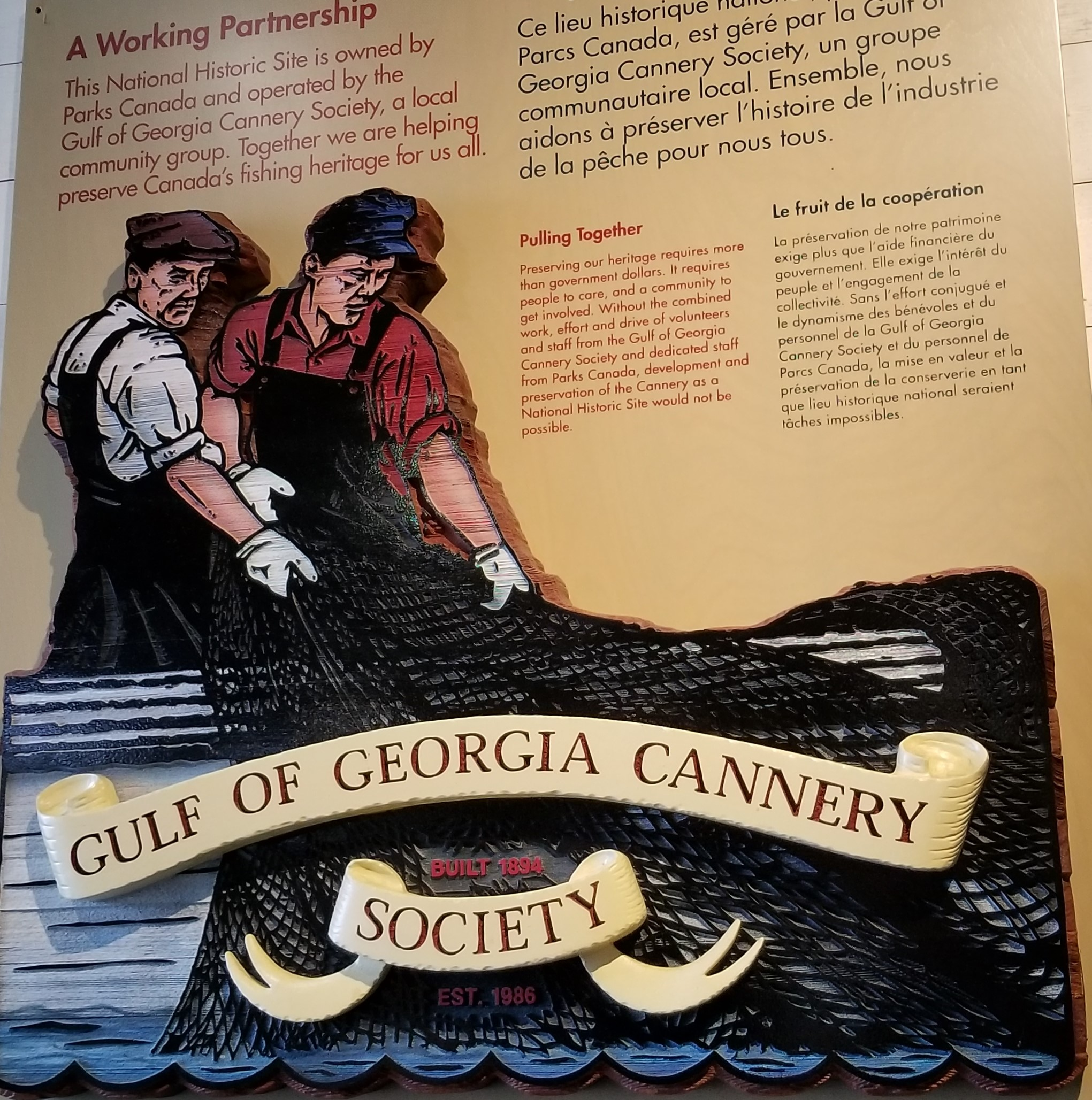 Gulf of Georgia Cannery sign