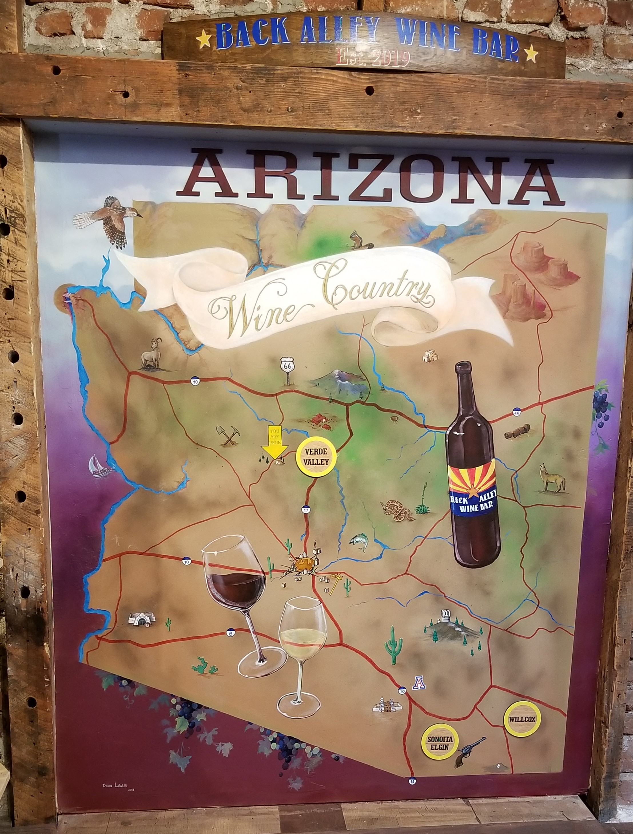 Arizona wine region map