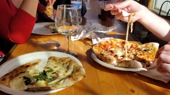 Pizza at Barrel Oak Winery