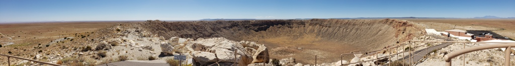 panoramic shot of the meteor crater