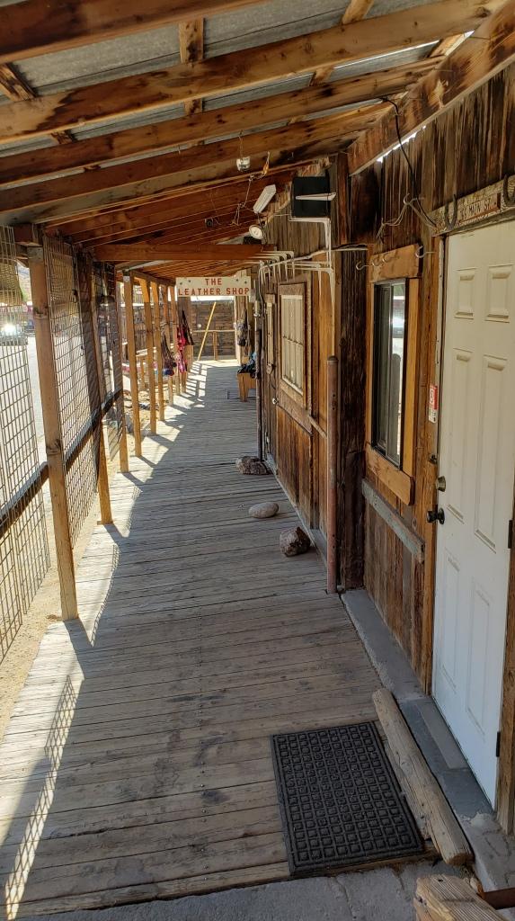 empty covered boardwalk