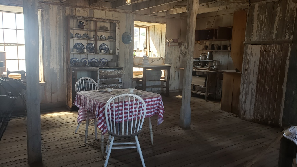 scene of kitchen in ghost town